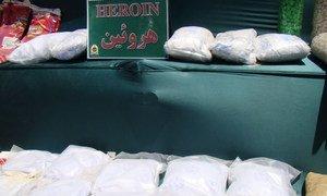 Heroin seizures in Iran.