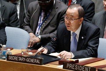 Secretary-General Ban Ki-moon addresses Security Council open debate on countering terrorism.