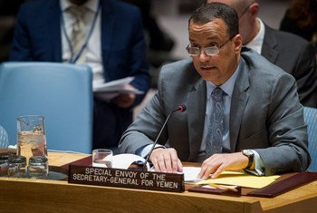 Ismail Ould Cheikh Ahmed, enviado especial de la ONU para Yemen, en el Consejo de Seguridad. Foto de archivo: ONU/Manuel Elias