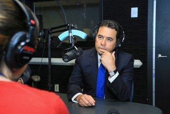 Radio ONU entrevista al presidente de Guatemala, Jimmy Morales. Foto Josue Peinado, cortesía de la presidencia de Guatemala