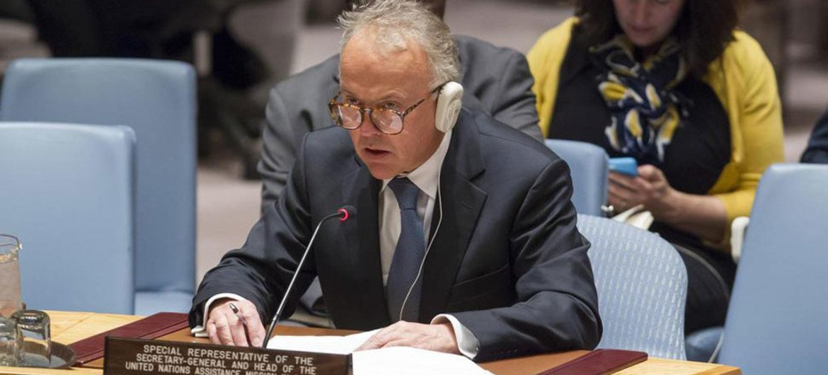 Michael Keating, the Special Representative of the Secretary-General and Head of the UN Assistance Mission in Somalia (UNSOM).