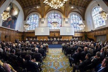 Зал заседаний  Международного  Суда ООН.