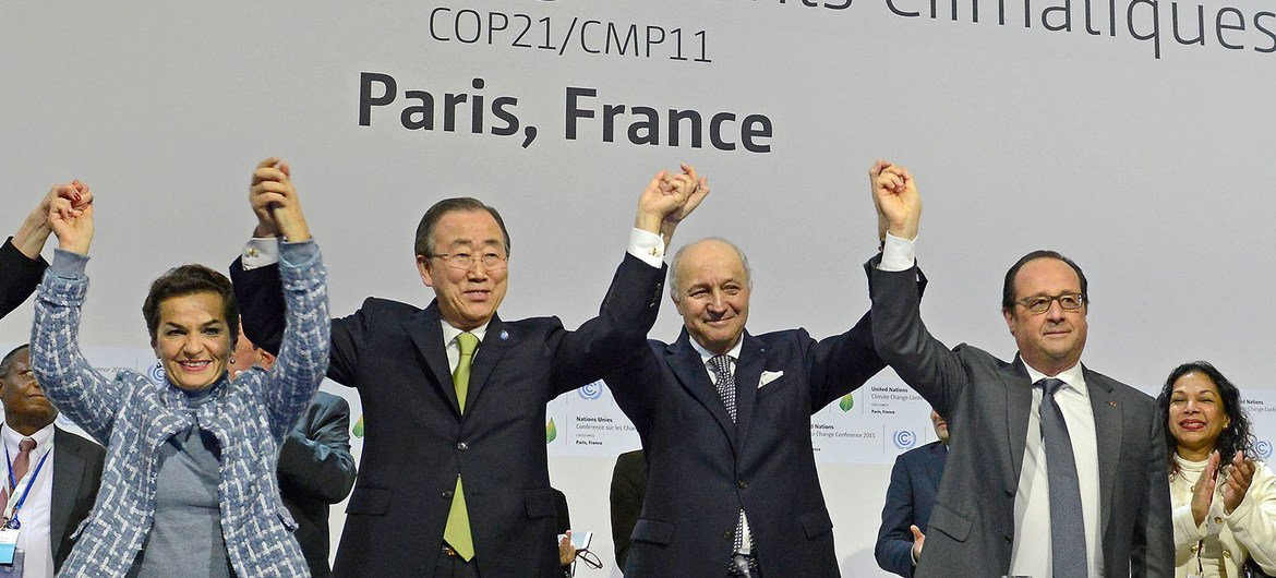 Image result for un paris climate agreement