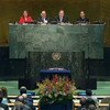 View of the GA Hall Opening Signing Ceremony of the Paris Climate Treaty. Video capture UN Web