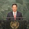 Zhang Gaoli, viceprimer ministro de China, en la ceremonia de firma del Acuerdo de París sobre Cambio Climático. Foto: ONU/Rick Bajornas