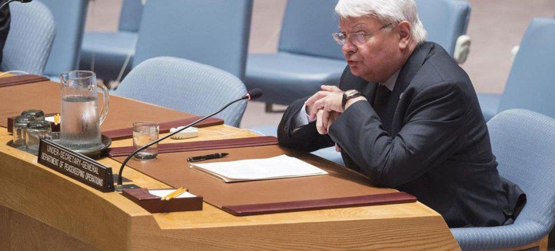 负责维和事务的副秘书长拉德苏向安理会就南苏丹局势提交工作报告   联合国图片/Eskinder Debebe