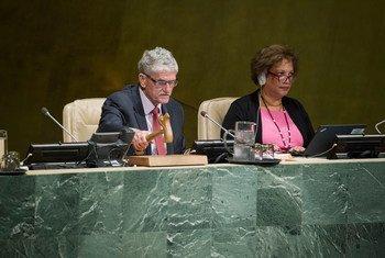 联大举行全会,纪念切尔诺贝利核事故30周年。联合国图片/Manuel Elias
