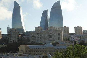 Вид на центр города Баку