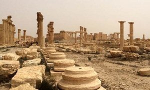 Destruction at the World Heritage site of Palmyra in Syria. (file)