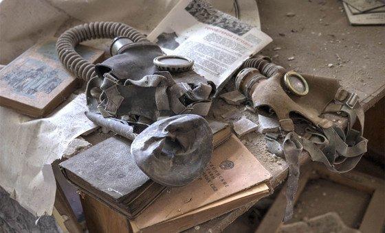 Начальная школа в селе Чернобыльской зоны отчуждения