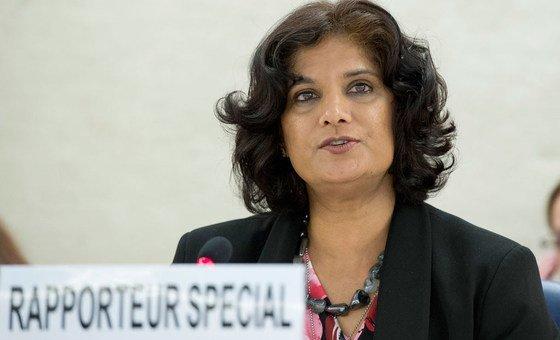 Special Rapporteur on contemporary forms of slavery, Urmila Bhoola.
