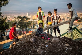 أطفال عراقيون 22 أكتوبر 2014. المصدر: مكتب تنسيق الشؤون الإنسانية / ياسون أثانسياديس