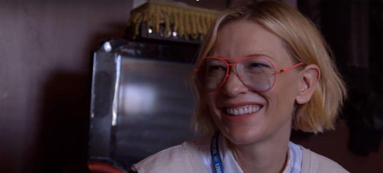 L'actrice Cate Blanchett a été nommée ambassadrice de bonne volonté du HCR. Capture vidéo HCR
