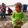 Niña en campamento de desplazados en Iraq. Foto de archivo: OCHA/Brandon Bateman