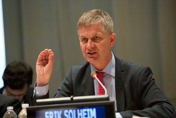 联合国环境署执行主任索尔海姆(Erik Solheim)宣布辞职。
