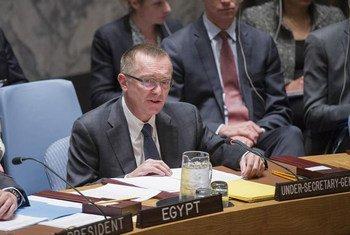 El secretario general adjunto para Asuntos Políticos, Jeffrey Feltman, en el Consejo de Seguridad. Foto de archivo: ONU/Rick Bajornas