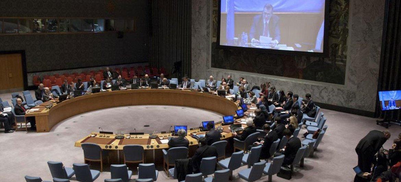 Jan Kubiš informó por videoconferencia al Consejo de Seguridad. Foto: ONU/Loey Felipe