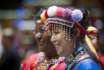 2016联合国土著问题常设论坛会议的参加者。联合国图片/Manuel Elias