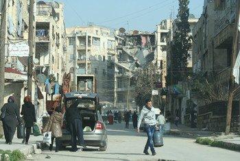 Разрушения в Алеппо. Фото  Управления  ООН  по кооординации гуманитарных вопросов