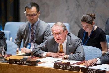 Jan Eliasson en el Consejo de Seguridad. Foto de archivo: ONU/Rick Bajornas