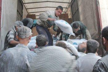 人道协调厅为叙利亚难民提供人道物资  图片:联合国人道协调厅