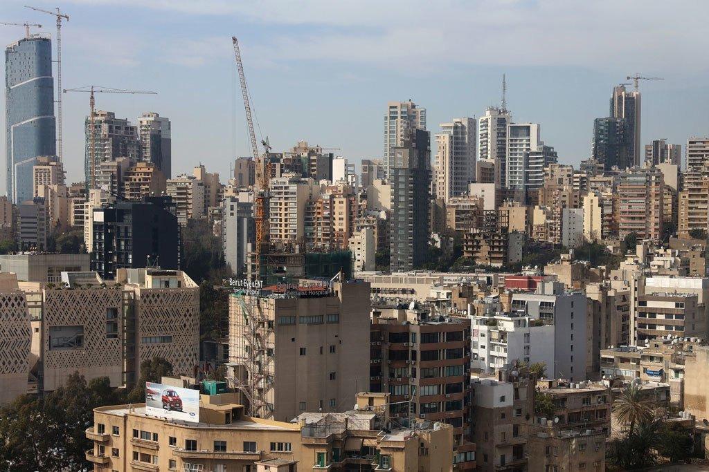 La ville de Beyrouth, au Liban.