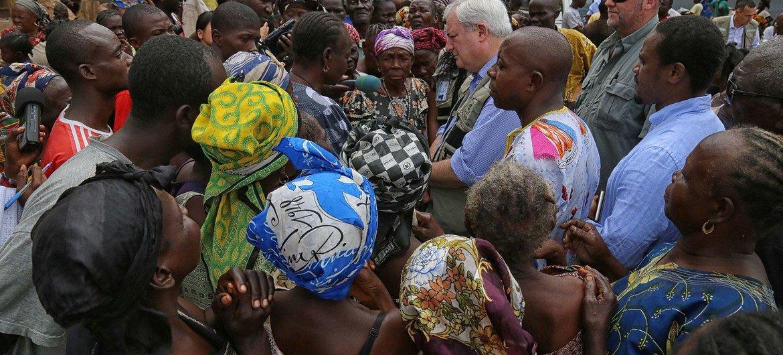 Campamento de desplazados en la República Centroafricana. Foto MINUSCA/Nektarios Markogiannis