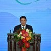 Secretary-General of the UN World Tourism Organization (UNWTO) Taleb Rifai addresses the First World Conference on Tourism for Development being held in Beijing, China, 18-21 May 2016.