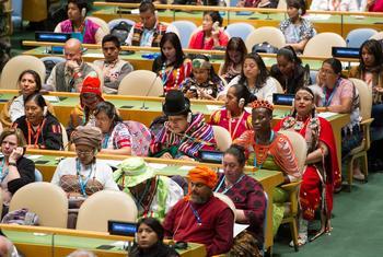 Многие делегаты Постоянного форума по вопросам коренных народов приходят на заседания в ООН в национальных костюмах.