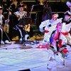 Des membres de l'Ensemble académique national de la chanson et danse folkloriques de Mongolie se produisent au siège de l'ONU pour célébrer la diversité culturelle.