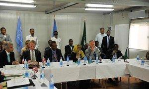 UN Security Council members visit Somalia.