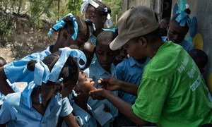 Government of Haiti has launched a vaccination campaign against cholera that aims to reach 400,000 people in 2016.