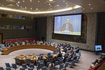 Nickolay Mladenov, coordinador especial para la paz en Medio Oriente, participó por videoconferencia en la reunión del Consejo de Seguridad. Foto: ONULoey Felipe