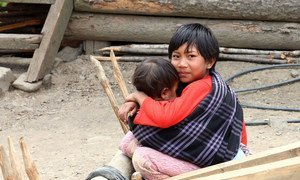 It is not uncommon in Myanmar that an older sibling looks after one younger.