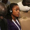 Maribel Ibule Djole, a writer for the Equatorial Guinean news outlet Ebano, attends a press conference for journalists coming from least developed countries (LDCs) at the Midterm Review of the Istanbul Programme of Action in Antalya, Turkey. 28 May 2016.