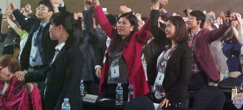 Closing ceremony of the UN Department of Public Information/Non-Governmental Organization Conference, Gyeongju, Republic of Korea.