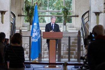 منسق فريق العمل الإنساني لسوريا يان إيغلاند. المصدر: الأمم المتحدة / بيير ألبوي