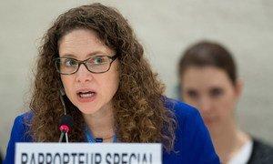 La Rapporteuse spéciale des Nations Unies sur les droits culturels, Karima Bennoune. Photo ONU/Jean-Marc Ferré