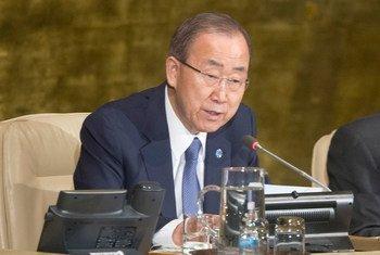 潘基文秘书长资料照片。联合国图片/Rick Bajornas