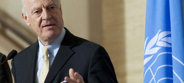 El enviado especial de la ONU para Siria, Staffan de Mistura. Foto de archivo: ONU: Jean-Marc Ferré