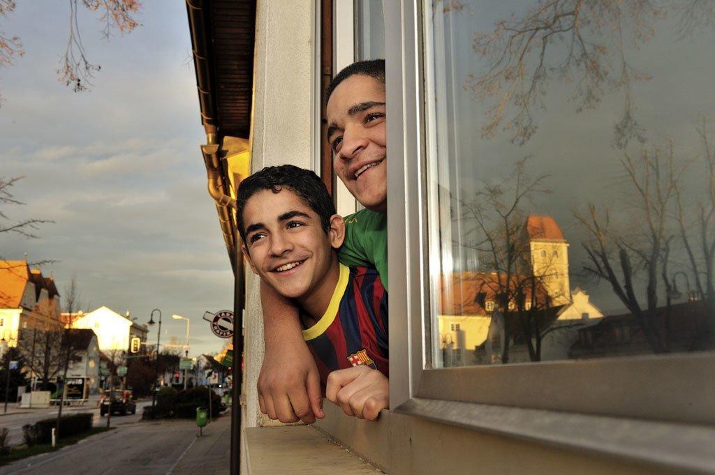 在奥地利得到重新安置的叙利亚难民儿童。难民署图片/Mark Henley