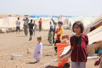 Los refugiados en los países de Medio Oriente han sufrido especialmente la ola de calor. Foto de archivo: UNICEF/Razan Rashidi