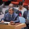 Saleh Annadif, representante especial del Secretario General para Mali y Jefe de la Misión Integrada Multidimensional de Estabilización de las Naciones Unidas en Mali (MINUSMA), informando al Consejo de Seguridad.