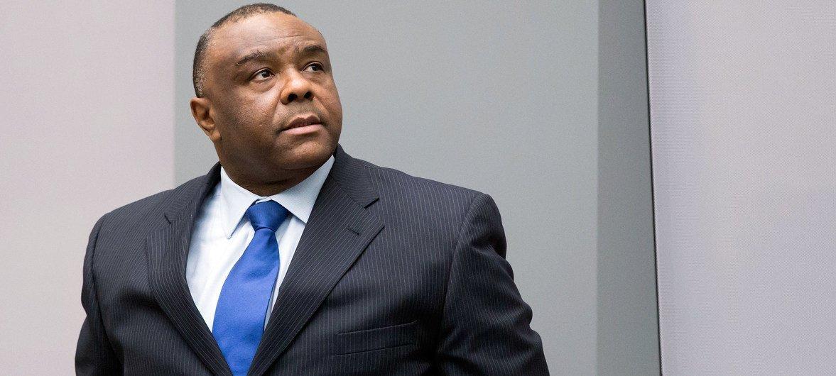 Jean-Pierre Bemba dans la salle d'audience de la Cour pénale internationale (CPI) le 21 juin 2016.