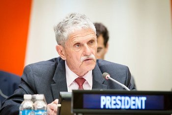 President of the General Assembly, Mogens Lykketoft, opens an informal meeting of the plenary to hear a briefing on the situation in Syria.
