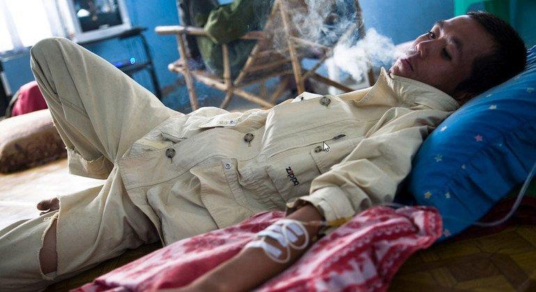 Centro de tratamiento de la drogodependencia en Myanmar.