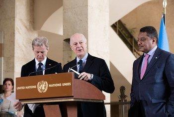 Стаффан де Мистура и Ян Эгеланн Фото из архива ООН/Анне-Лоре Леша