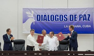 Secretary-General Attends Ceremony for Colombian Ceasefire Agreement, Havana.