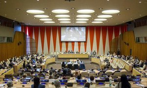 Wide view of the ECOSOC Chamber during the joint meeting of ECOSOC and the Peacebuilding Commission.