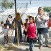 Dans le camp de réfugiés de Kara Tepe sur l'île grecque de Lesbos, en Grèce.